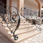 passamano scalinata esterna ferro battuto