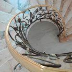 passamano scale ferro battuto foglie