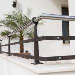 ringhiera balcone ferro battuto e acciaio inox