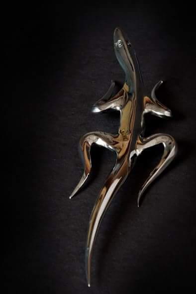 geco salentino in acciaio inox dorso