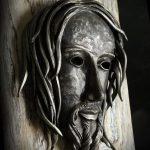 volto di cristo in ferro battuto